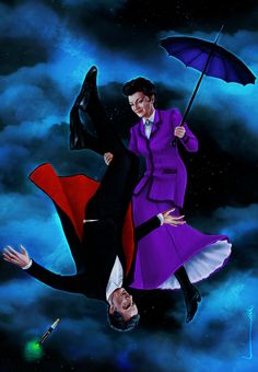 Missy and the 12th Doctor - ''Fall with Me'' by luluha (deviantART) - Doctor Who.S08E12  - ''Death in Heaven'' (Doctor Who - BBC Series) source http://luluha.deviantart.com/art/Fall-With-Me-494742007
