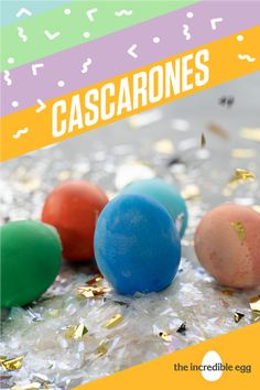 For Cascarones, it's okay to crack under pressure because the confetti that comes out of these colorful eggs is the best part of Easter! Get your fill of confetti eggs in time for the holiday now. Confetti Eggs, Incredible Eggs, Chicken Crafts, Cute Chickens, Easter Table Decorations, Egg Decorating, Egg Shells, Brunch Recipes, Easter Eggs
