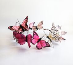 Forever Fuschia Butterfly Crown by DelfinaCrowns on Etsy Butterfly Costume, Butterfly Party, Crown For Kids, Fairy Crown, Circlet, Crown Hairstyles, Tiaras And Crowns, Hair Jewelry, Diy Clothes