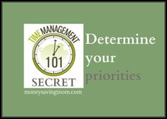 Time managment secret: Determine your priorities BEFORE you make your schedule. ;)