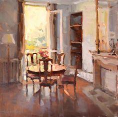 ANNE BLAIR BROWN - A Paris Apartment  olaj 50.8 x 50.8 cm - 3600 $