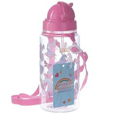GBP - Puckator, Enchanted Rainbow Unicorn Drinking Bottle With Straw, Pink - Water & Garden Pink Water Bottle, Drinking Water Bottle, Cute Water Bottles, Water Bottle With Straw, Drink Bottles, Bottles For Sale, Rainbow Unicorn, Girl Gifts, Bricolage