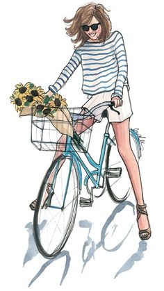 Hayes, Inslee (Inslee by Design -born- Inslee Fariss) - Playful Riding of Bike w Flowers