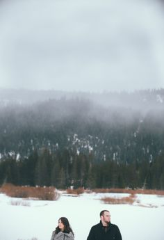 Snowy Engagement Session in Truckee, Ca by Shannon Rosan @Shannon Rosan