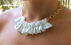 DIY Jewelry DIY Ruffle Necklace