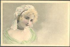 HM129-VIENNE-a-s-KRATKY-ART-NOUVEAU-HAT-LADY-FEMME-MODE-BONNET: