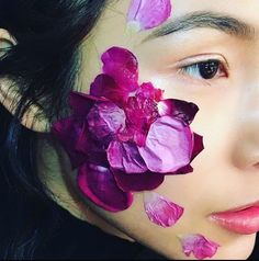 Makeup and flower petals #mmixart