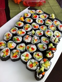 Homemade Sushi - avocado, carrot, mango, crab, red pepper, cucumber