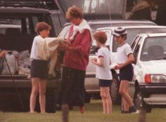 June 21, 1993: Princess Diana at Prince William's Sports Day.