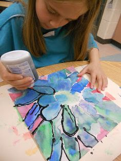 Panther's Palette: 1st Grade: Georgia O'Keeffe Flowers
