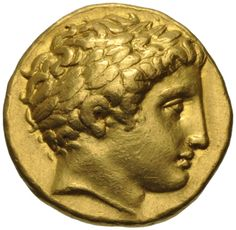 Gold Stater of Philip II - King of the Ancient Greek kingdom of #Macedonia - Greek and Roman coins • The Museum