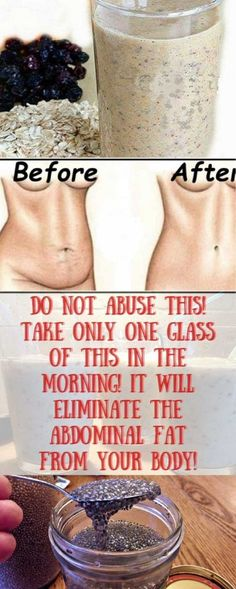 Do Not Abuse This! Take Only One Glass of This In The Morning and Eliminate The Abdominal Fat From Your Body!