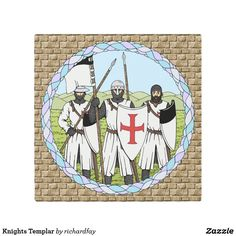 Knights Templar Metal Print.  40% Off with code ZAZZLEDESIGN Offer is valid through August 4, 2017, 11:59 PM PT.  #Zazzle #metal_print #metal_art #metal_art #Knights_Templar #Templars #medieval_knights #crusader_knights #knights #crusaders