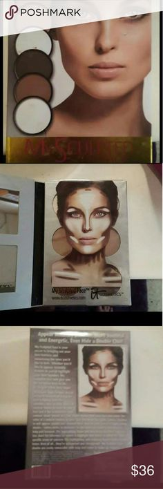 """IT Cosmetics """"My Sculpted Face"""" Contour kit IT Cosmetics My Sculpted Face contour kit.Brand new and still has plastic cover on it.Comes with 6 different shades for contouring and highlighting It Cosmetics  Makeup Foundation"""