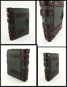 L.A.R.P. leather book. by MilleCuirs.deviantart.com on @deviantART