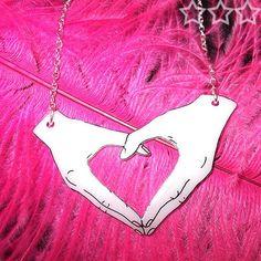 Happy Hands necklace - Heart (Design 2) £10