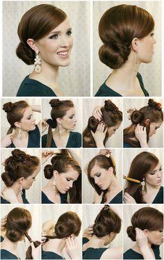 Sätt upp snygg hårknut