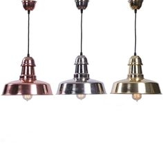 industrial warehouse pendant set of 3 metal finish palette