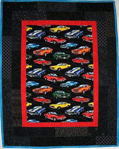 Muscle Cars Quilt $70