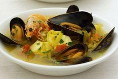 Slow Cooker Mussel Soup with Saffron