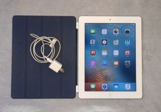 Apple iPad 2 16GB A1395 White with Smart Case Cover WIFI charger