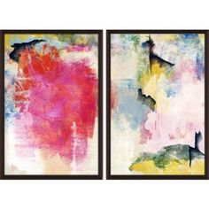 Check out this item at One Kings Lane! Colorful Strokes Diptych