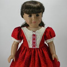 18 Inch Doll Dress for American Girl Dolls - Holiday Cheer: A Christmas Dress for Marie-Grace