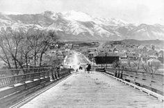 Bridge To Colorado Springs ~ Looks like a very old Bijou Bridge ~ Colorado Springs Colo ~ 1900