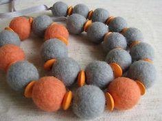 Felted-wool-balls-necklace-Handmade