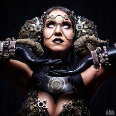 // Model: Vesna Zorman // Photo: Al Bruni // Styling, costume, accessories: Vesna Zorman // Makeup: Vesna Zorman // Website: http://www.ambrosiatribal.com/ // Facebook: http://www.facebook.com/AmbrosiaGlamTribal