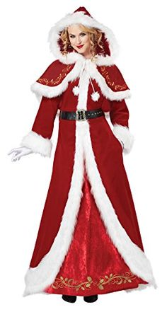 California Costumes Women's Mrs. Claus Deluxe Adult, Red/White, Large California Costumes http://www.amazon.com/dp/B00LL47AAC/ref=cm_sw_r_pi_dp_NEY3vb12P0XGQ