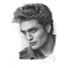 Pencil Drawing Of Edward Cullen Profile By Jonathan Wood