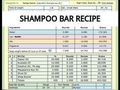This beauty recipe is perfect for those of you who never made a shampoo bar b. Diy Shampoo, Lush Shampoo Bar, Natural Hair Shampoo, Solid Shampoo, Organic Shampoo, Soap Making Recipes, Soap Recipes, Homemade Shampoo Recipes, Lipgloss