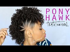 ▶ THE PONY HAWK | Natural Hairstyle - YouTube - It's absolutely adorable, but a whole lot of work!