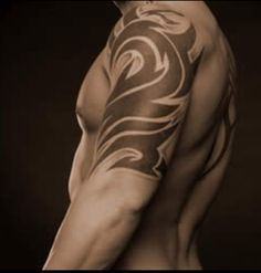 Tribal Photo: This Photo was uploaded by medeyle. Find other Tribal pictures and photos or upload your own with Photobucket free image and video hosting. Tribal Tattoo Designs, Tribal Shoulder Tattoos, Tribal Tattoos For Men, Tribal Sleeve Tattoos, Tattoos For Women, Tattoo Shoulder, Feather Tattoos, Bad Tattoos, Body Art Tattoos