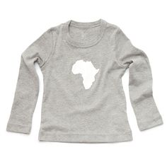 Continent Africa Long Sleeve Toddler Tshirt