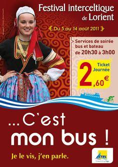 Affiche pour le Festival interceltique de Lorient 2011