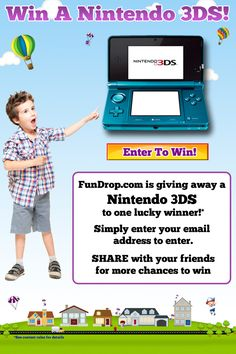 FREE Nintendo 3DS!!!!! Sweepstakes ends 10/31/12.