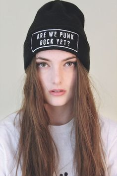 Are we punk rock yet? beanie – Infinitee Apparel