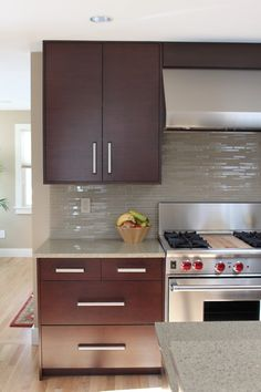 This Looks Just Like My Kitchen...same Color Cabinets, Same Neutral Glass.  Backsplash ...
