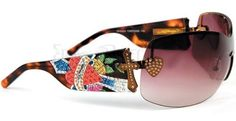 Ed Hardy EHS-023 Zeke Tortoise Swarovski Vintage Tattoo Sunglasses by Ed Hardy. $160.00. Ed Hardy designs are the most distinctive around!