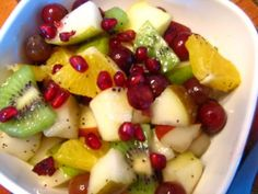 Lynda's Recipe Box: Fresh Fruit Salad with Apples and Pomegranate