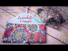 Coudre une pochette de rangement pour les masques en tissus - YouTube Maxi Dress Tutorials, Sewing Tutorials, Crochet Projects, Sewing Projects, Dress Sewing Patterns, Fabric Sewing, Skirt Patterns, Blouse Patterns, Coin Couture