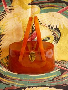 1950s Tortoise Lucite Purse Swing Handle by decotodiscovintage, $265.00