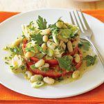 """Tomato """"Bruschetta"""" with Tuna and Cannellini Salad Recipe   MyRecipes.com  tomato-bruschetta-with-tuna-cannellini-salad"""