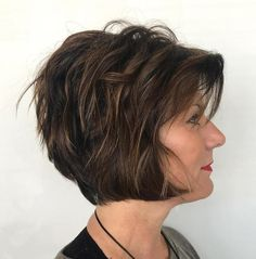 20 Ageless Hair Colors for Women Over 50 Layered Jaw-Length Bob over 50 Hair Color For Women, Short Hair Cuts For Women, Cool Hair Color, Short Hair Styles, Hair Colors, Bob Hairstyles For Fine Hair, Hairstyles Over 50, Cool Hairstyles, Hairstyles 2018