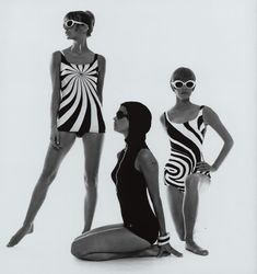 Op Art-bathing suits