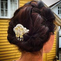 Hårspenne m/heng til bunad 9913 Silver Hair, Norway, Hair Cuts, Crown, Hardware, Accessories, Beauty, Jewelry, Google