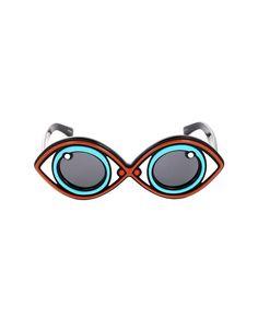 LINDA FARROW Linda Farrow sunglasses oval frame black lenses acetate material…