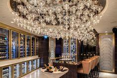 Raffles Hotel Istanbul, Turkey. #bar #lightingdesign #lighting #design #crystal #lanterns